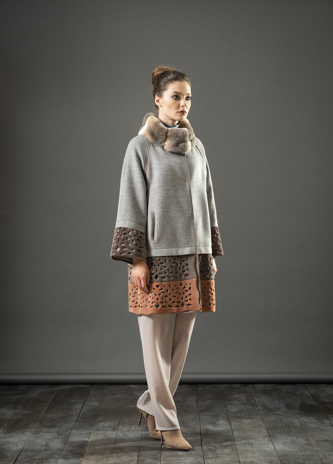 Giaccone cashmere + orylag + montone